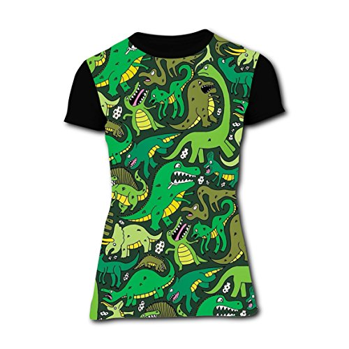 For Couples Ideas Costume Jungle (T-shirts Tee Shirt for Women Tops Costume Dinosaur Dino Jungle)