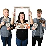 Big Dot of Happiness Woodland Creatures - Birthday Party Baby Shower Selfie Photo Booth Picture Frame & Props - Printed on Sturdy Material