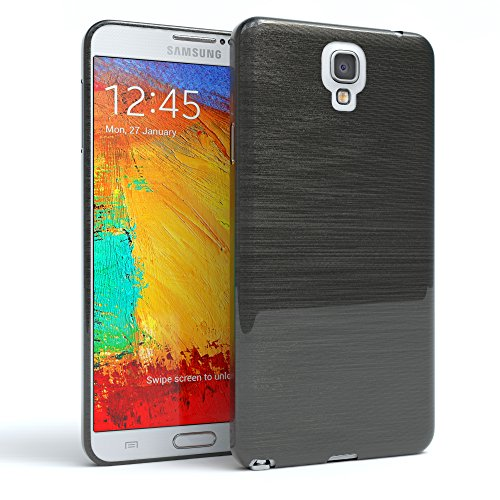 Galaxy Note 3 Neo Case - EAZY CASE Premium Protective Covers for Samsung Galaxy Note 3 Neo Silicone Bumper, Shock Absorption Hard Shell - Brushed Cell Phone Case in dark Gray