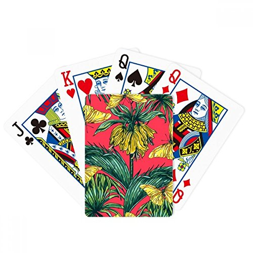 DIYthinker Flower Plant Leaf Pink Butterfly Poker Playing Card Tabletop Board Game Gift