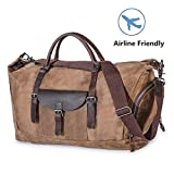 Travel Luggage Bag Large Canvas Duffel Bag Portable Sports Hand Bag for Women Men Vintage Weekender Duffel Bag