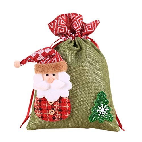 - Daxin Christmas Favors Drawstring Christmas Gift Bags Candy Holder Treat Bags for Snowman Gift Bags Santa Claus Gift Bags