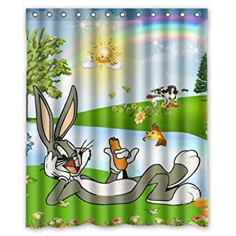 Amazon Com Cartoon Bugs Bunny Custom Polyester Fabric