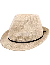 5b8c0a447f2 Unisex Summer Foldable Fedora Hat Short Brim Beach Sun Hat