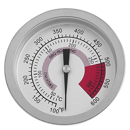 (Matefield Round Bi-metal BBQ Grill Meat Food Thermometer Dial Temperature Gauge)