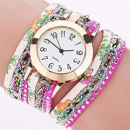 HZBIOK Reloj Mujer Nuevos Relojes Flor De Las Mujeres Reloj De Cuarzo Popular Pulsera Señora Regalo Flor Reloj De Piedra Preciosa