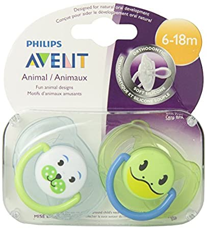 Amazon.com : BPA Animal Chupete, 6-18 meses, estilo y el color puede ...