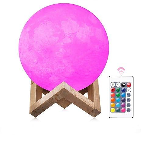 7 Interruptor 3d Intensidad 1ih Táctil Regulable Led 16 Luna Lámpara De Color fy6b7gYv