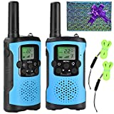 Walkie Talkies for Kids 22 Channel 3 Mile Long Range Many People use it to Prevent Children's Myopia and Away from Electronic Games Best Birthday Gifts for 4-6 Year Old Boys More Fun Game (Blue)