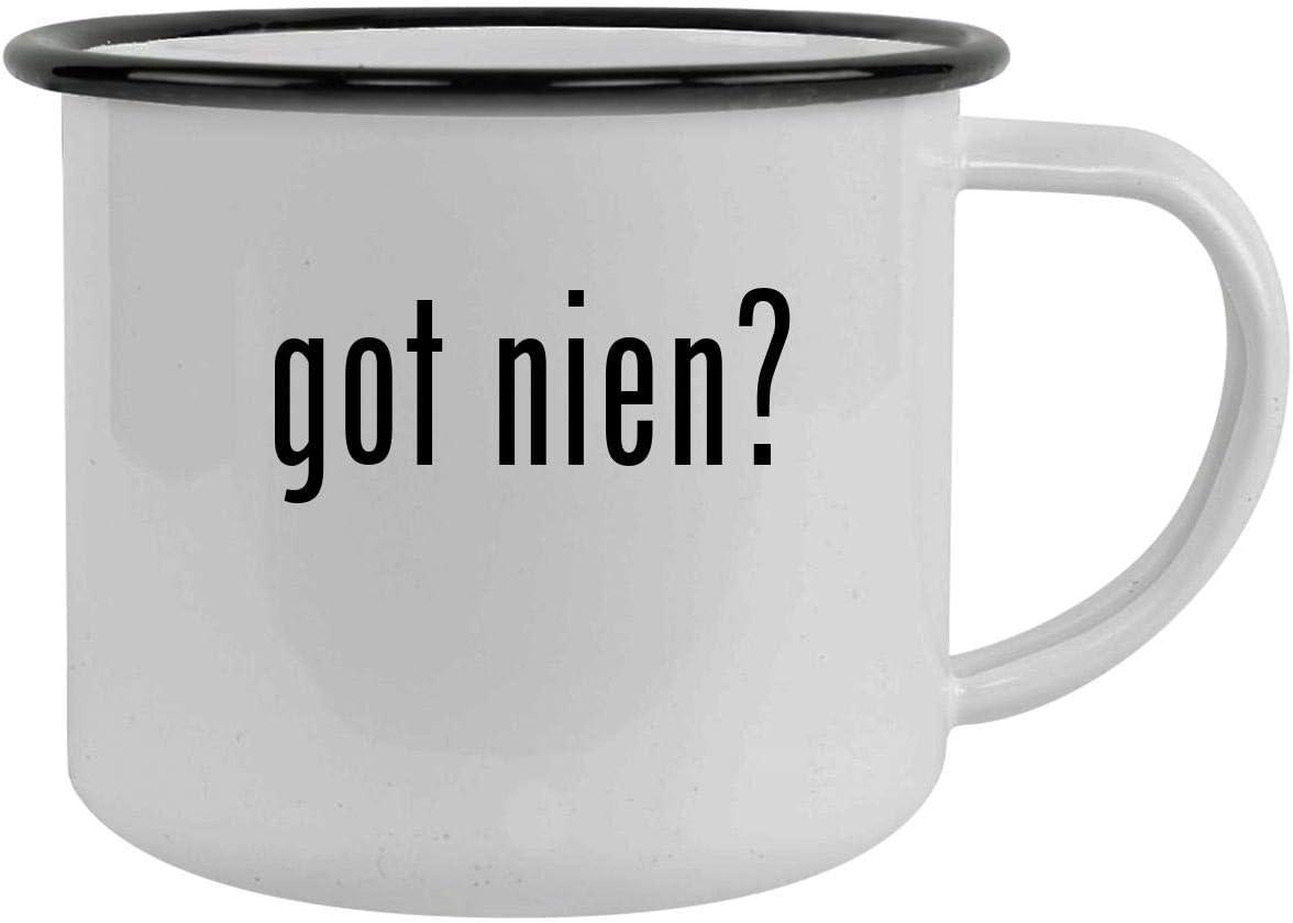 got nien? - 12oz Camping Mug Stainless Steel, Black
