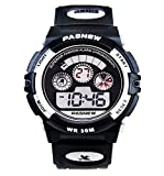 Waterproof Boys/Girls/Childrens Digital Sports Watches Kids Gift for age 4-12 Years Old (Black)