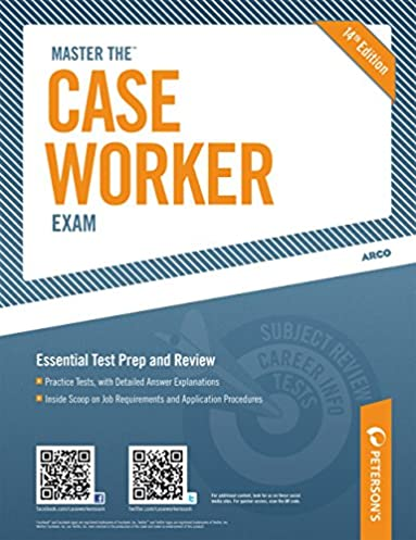master the case worker exam practice test 6 of 6 peterson s master rh amazon com