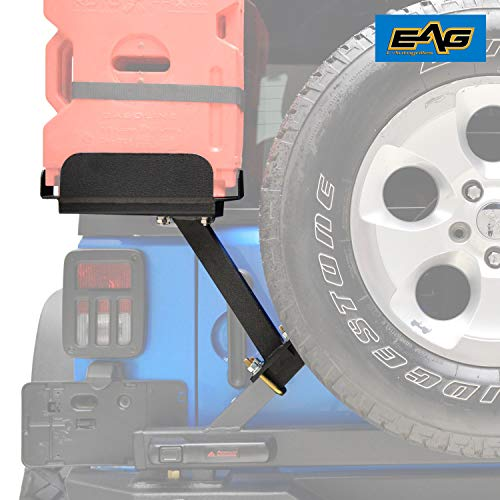 EAG Gas Tank Bracket for Tire Carrier Fit for 2007-2018 Jeep Wrangler JK