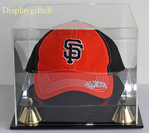 Pro Baseball Cap/Hat Display Case Holder Stand, UV Protection Acrylic Cap Display Case