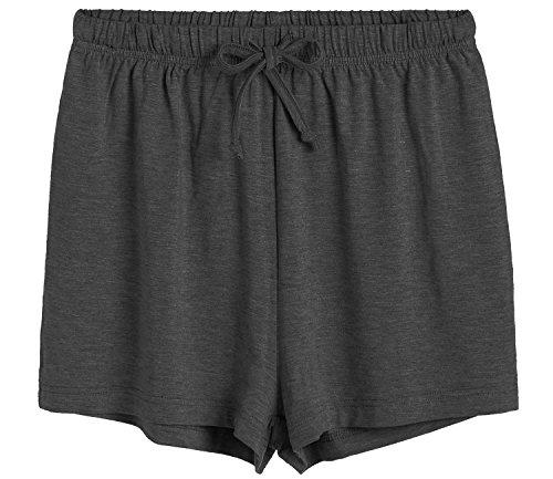 Latuza Women's Boxer Shorts Pajama Bottoms L Dark Gray