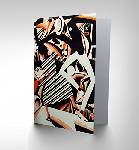[NEW DRAW AFRICAN AMERICAN JAZZ TWO TONE REISS DANCE GREETINGS CARD CP1190] (African American Stationery)