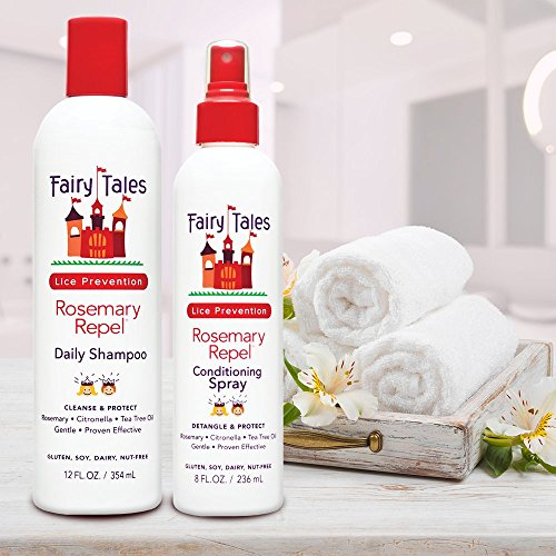 Fairy Tales Rosemary Repel Daily Kid Shampoo (12 oz) & Conditioning Spray (8 oz) Duo for Lice Prevention by Fairy Tales (Image #1)