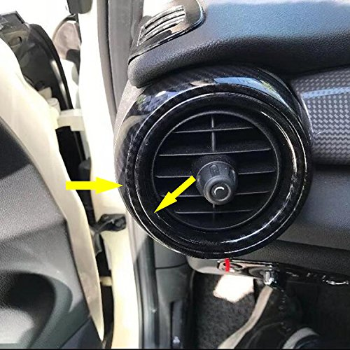Rqing For 2018 New MINI COOPER/MINI COOPER S Interior Front Air Condition Vent Outlet Cover Trims Carbon Fiber (Front (Mini Cooper S Carbon Fiber)