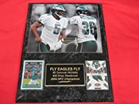Donovan McNabb Brian Westbrook Eagles 2 Card Collector Plaque w/8x10 Photo