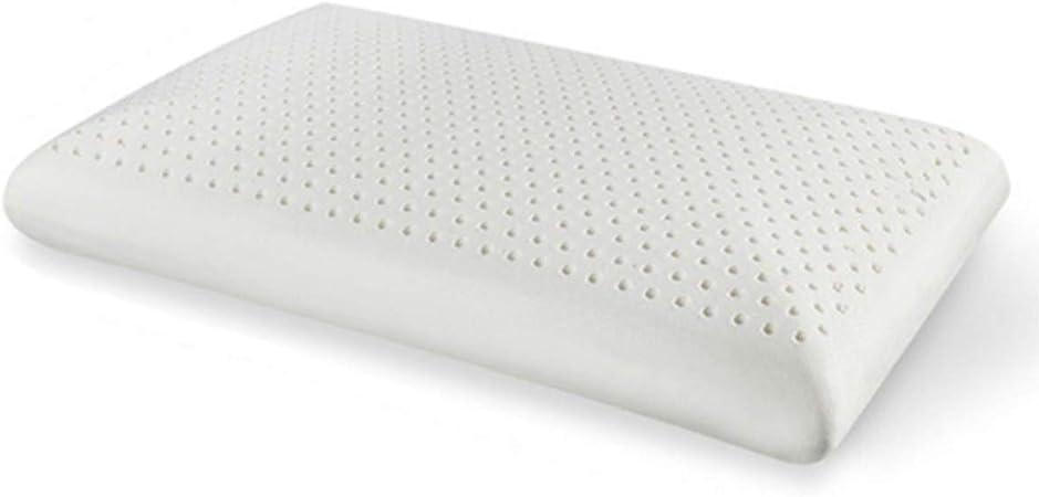 Oreiller en latex naturel respirant et mousse Anti-ronflement anti-acariens hypoallerg/énique et anti-douleurs du cou