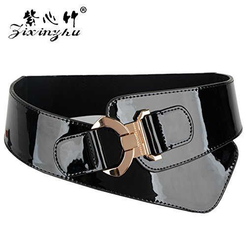 ZHANGYONG La largeur de la courroie de femmes Black Italic sol taille  élastique La ceinture 90748d99db2