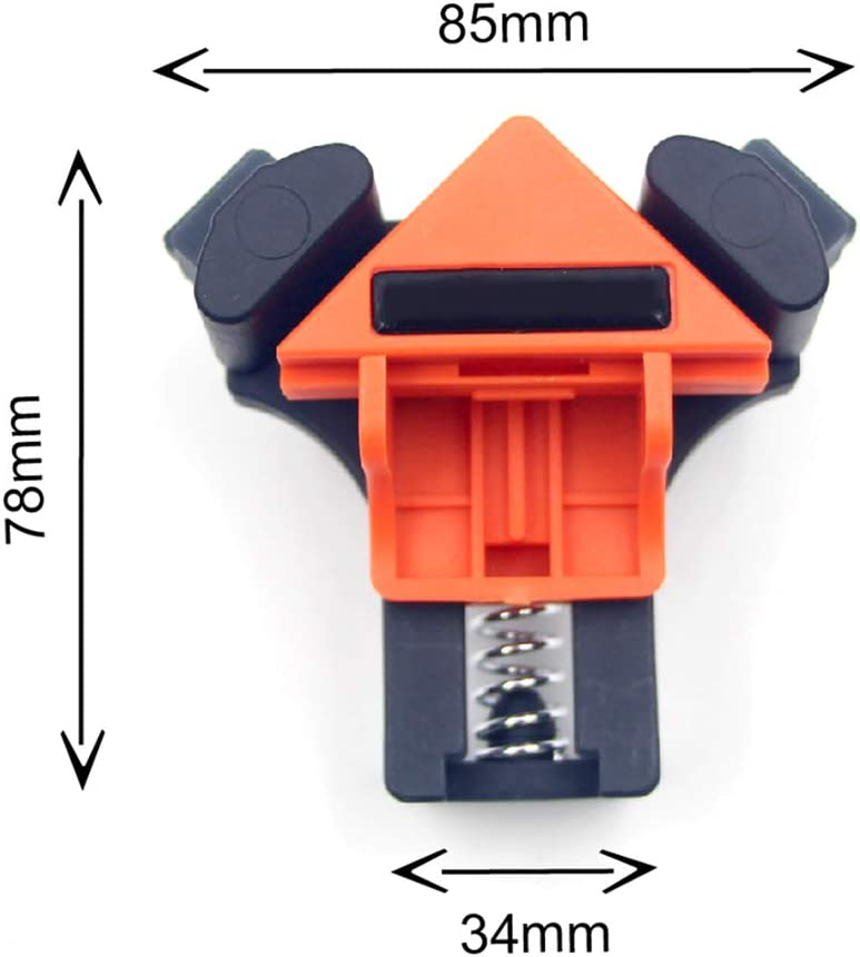 Picture Framing 4Pcs Corner Clamps Tools for Woodworking Multifunction Corner Clip Fixer Adjustable Swing Corner Clamp for Wood-Working Wyi 90 Degree Angle Clamps Engineering