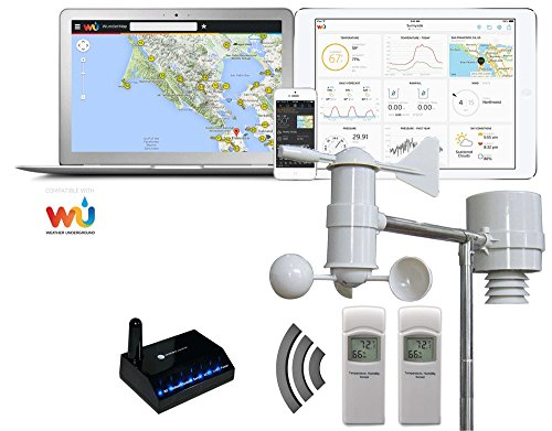 Ambient Weather WS-0900-IP Wireless Internet Remote Monitoring Weather Station, White
