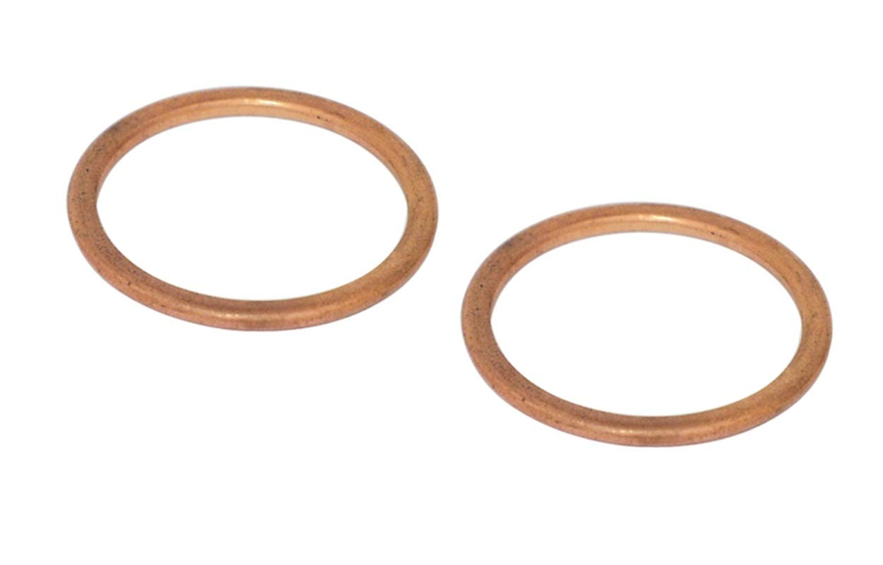 V-Factor Copper Covered Fiber exhausat Port Gasket Set (2) for Harley Big Twin 1984-2019/1986-2019 Sportster XL OEM # 65324-83A