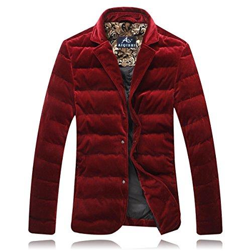 men's size suit padded jackets jacket Red cotton trends cotton fashion XL Men's 7qT0Rw8q
