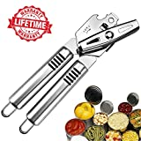 HJYC Professional Stainless Steel Can Opener Manual,Heavy Duty Can Openers,Pampered Chef Can Opener,Ergonomically Designed Handle,Hand Can Opener Dishwasher Safe.