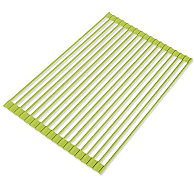 Better Houseware Over the Sink Roll-Up Drying Rack 1434 Lime Green