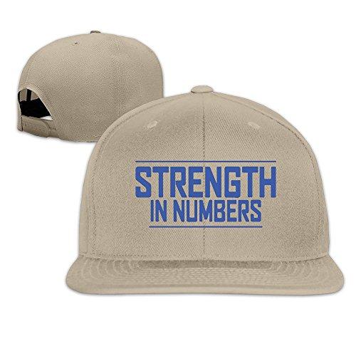 Basee Strength In Numbers Basketball Adjustable Flat Along Baseball Cap Natural