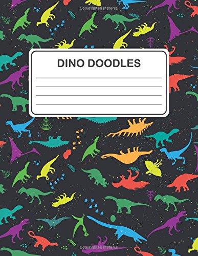 Dino Doodles: Kids Dinosaur Sketchbook (Multi Colored Dinosaurs Design) (Blank Dinosaur Notebook Drawing Book) (8.5 x 11 Large) Text fb2 book