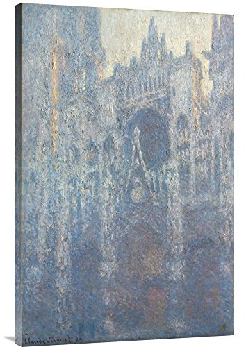 Global Gallery Budget GCS-454990-2436-142 Claude Monet The Portal of Rouen Cathedral in Morning Light Gallery Wrap Giclee on Canvas Wall Art Print