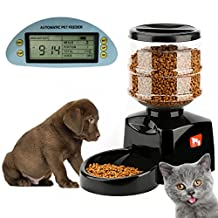 Tera Electronic Portion Control-automatic Dry Food Pet Feeder 5.5L Capacity for Dogs and Cats Black