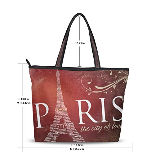 Yuihome Fashion (paris) The City To Love Design Zipper Handbag