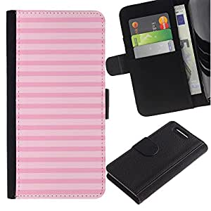 A-type (Lines Summer Pink Horizontal Pattern) Colorida Impresión Funda Cuero Monedero Caja Bolsa Cubierta Caja Piel Card Slots Para Sony Sony Xperia Z1 Compact / Z1 Mini (Not Z1)