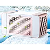Dreamyth USB Charging Mini Portable Air Conditioner Fan Refrigerator Cooler for Home Durable (Pink)