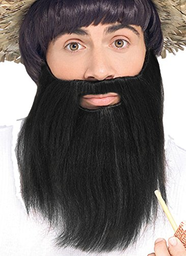 [Forum Novelties Men's Novelty Handmade Full Beard, Black, One Size] (Mens Lumberjack Costumes)