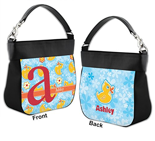 amp; Leather Flowers Genuine Purse Trim Rubber Front Back amp; Personalized w Duckies Hobo A0SZvq