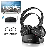 Wireless Headphones for TV With Charging Dock,over the Ear Stereo Headset with RF
