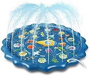 """Sprinkler for Kids, 67"""" Inflatable Splash Pad & Wading Pool for Kids Toddlers Dogs, Alphabet Number Shape"""