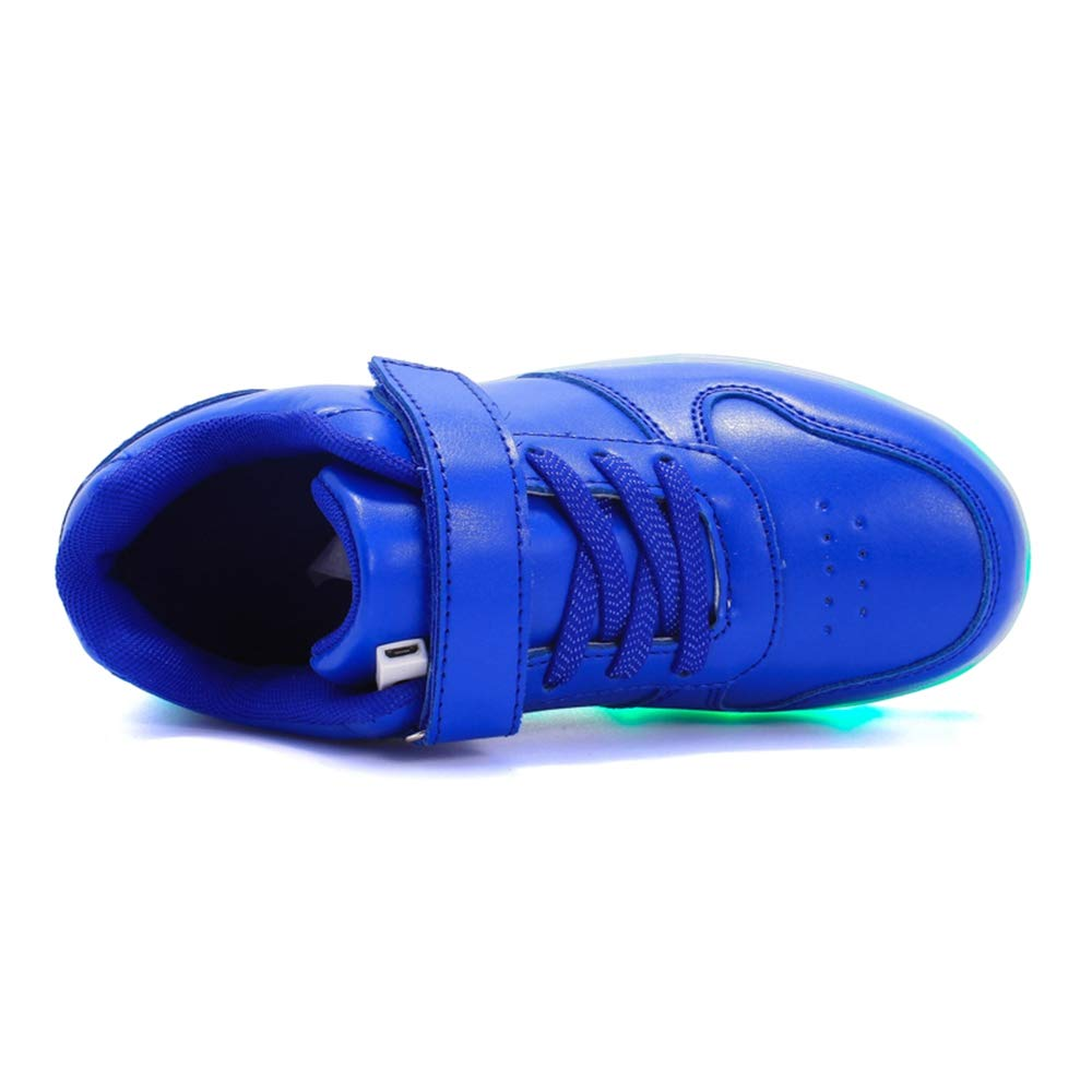 ANKIDS Kids Fashion LED Light Up Shoes USB Flashing Sneakers for Boys Girls