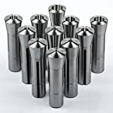 11 PC R8 Collet Set 1/8'' to 3/4'' Fractional High Precision for Bridgeport