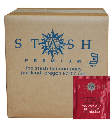 Stash Tea Pomegranate Raspberry Green Tea, 100 Count Box of Tea Bags in - Station Discount Shade