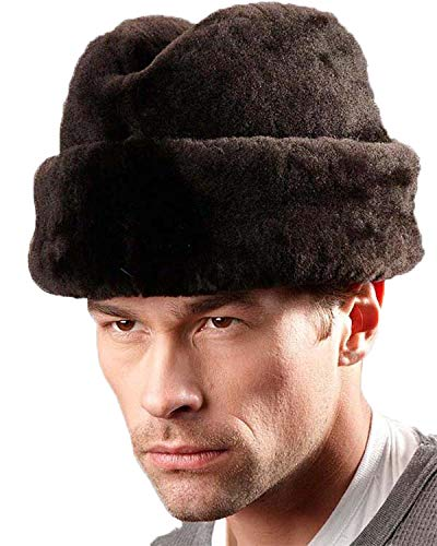 frr Brown Mouton Sheepskin Russian Cossack Hat - 2XL ()
