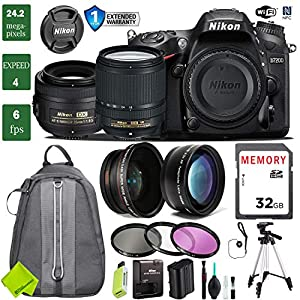 Nikon D7200 DSLR Camera 18-140mm VR Lens Bundle