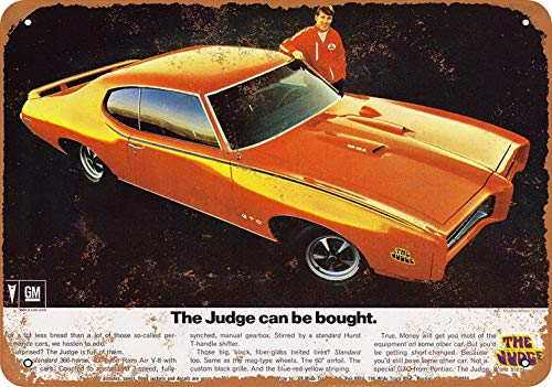 - Weytff 8 x 12 Metal Sign - Pontiac GTO The Judge Can Be Bought Pub Home Decor Metal Tin Sign
