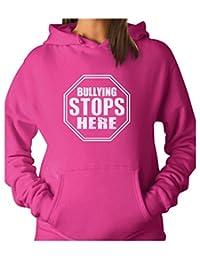 TeeStars - Bullying Stops Here Pink Day Shirt Stop Sign Design Women Hoodie