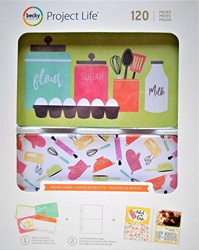 Scrapbook Recipe Cards - Project Life Recipe Cards Value Kit - (120) 4x6 Scrapbook Cards